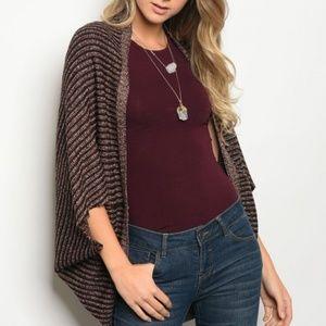Sweaters - BROWN TAUPE CARDIGAN